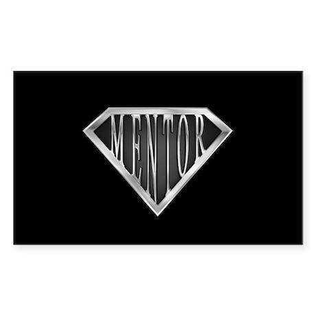 SuperMentor(metal) Rectangle Sticker