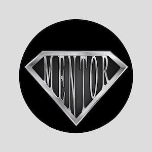 """SuperMentor(metal) 3.5"""" Button"""