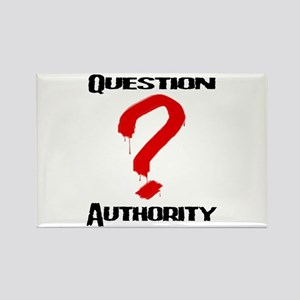 Question Authority 1 Rectangle Magnet