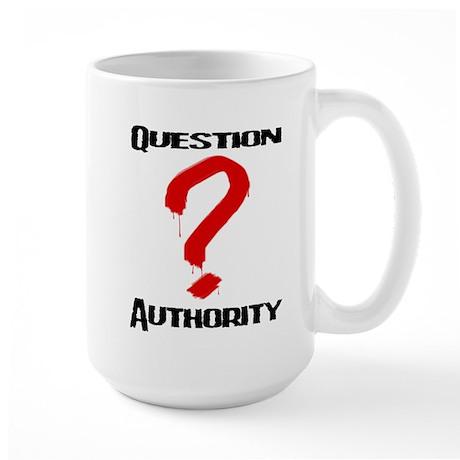 Question Authority 1 Large Mug
