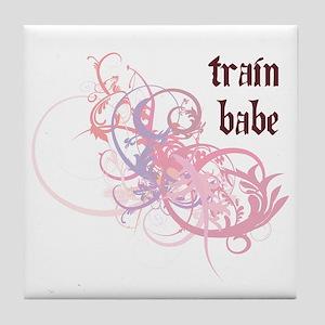 Train Babe Tile Coaster