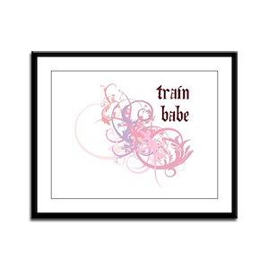 Train Babe Framed Panel Print