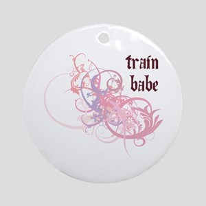 Train Babe Ornament (Round)