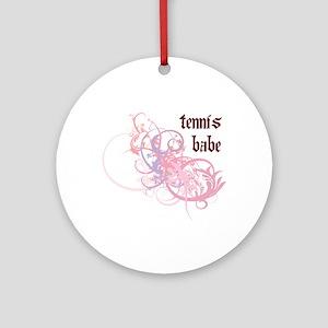 Tennis Babe Ornament (Round)