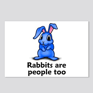 Rabbits Are People Too Postcards (Package of 8)