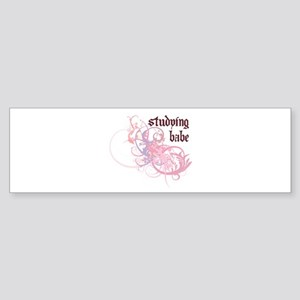 Studying Babe Bumper Sticker