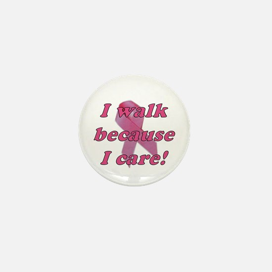 Walk because I Care Pink Ribbon (10 pack)