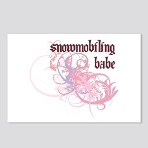 Snowmobiling Babe Postcards (Package of 8)