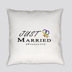 Just Married (Finally) Lesbian Pri Everyday Pillow