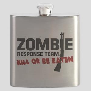 Kill The Walking Dead Zombie TShirt Apocalyp Flask