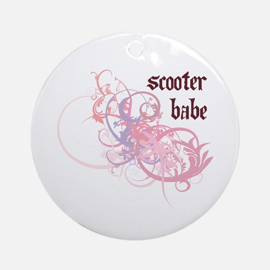 Scooter Babe Ornament (Round)