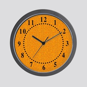 Rough Orange 03 Wall Clock