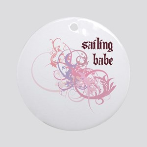 Sailing Babe Ornament (Round)