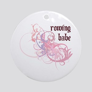 Rowing Babe Ornament (Round)