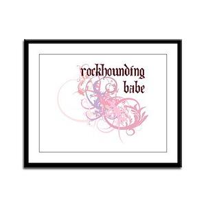 Rockhounding Babe Framed Panel Print