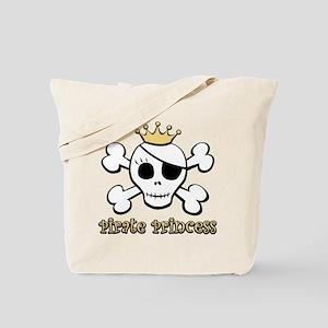 Funny Pirate Princess Tote Bag