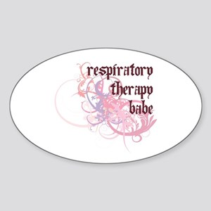 Respiratory Therapy Babe Oval Sticker
