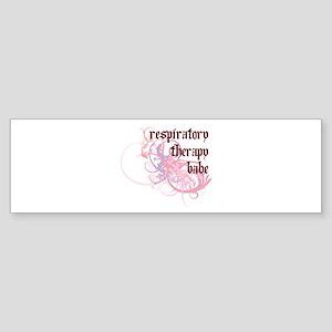 Respiratory Therapy Babe Bumper Sticker