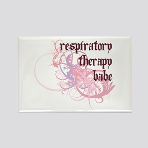 Respiratory Therapy Babe Rectangle Magnet