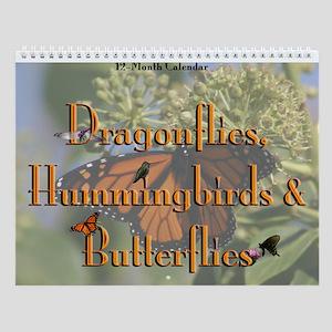 Dragonflies, Hummingbirds, & Butterflies