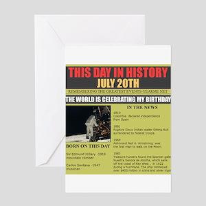 july 20th-birthday Greeting Card