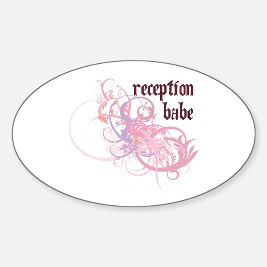 Reception Babe Oval Decal