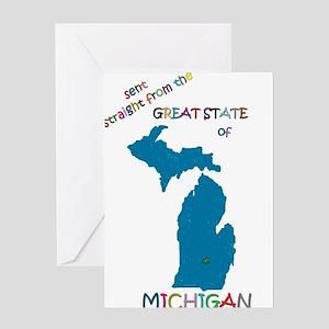 Michigan greeting cards cafepress michigan gift greeting card m4hsunfo Images
