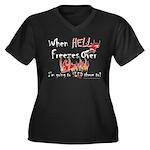 When Hell freezes Women's Plus Size V-Neck Dark T-