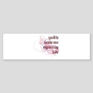 Quality Assurance Engineering Babe Sticker (Bumper