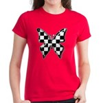 Checkered Butterfly Women's Dark T-Shirt