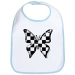 Checkered Butterfly Bib