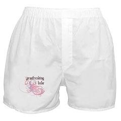 Proofreading Babe Boxer Shorts