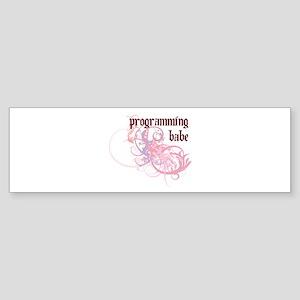 Programming Babe Bumper Sticker