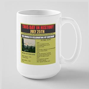 july 25-birthday Large Mug