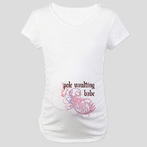 Pole Vaulting Babe Maternity T-Shirt