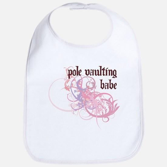 Pole Vaulting Babe Bib