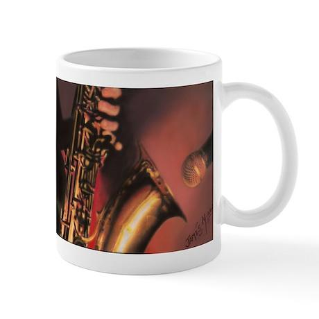 Playing The Sax Mugs