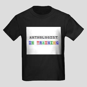 Anthologist In Training Kids Dark T-Shirt