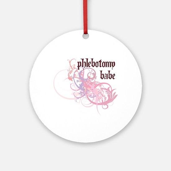 Phlebotomy Babe Ornament (Round)