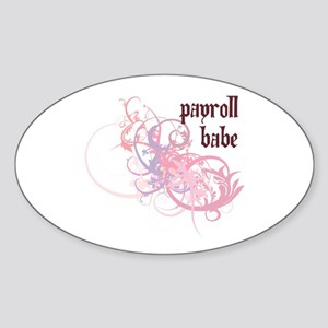 Payroll Babe Oval Sticker