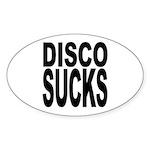Disco Sucks Oval Sticker