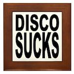 Disco Sucks Framed Tile