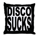 Disco Sucks Throw Pillow