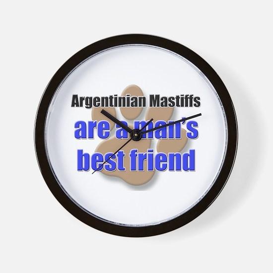 Argentinian Mastiffs man's best friend Wall Clock