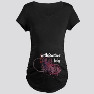 Orthodontics Babe Maternity Dark T-Shirt