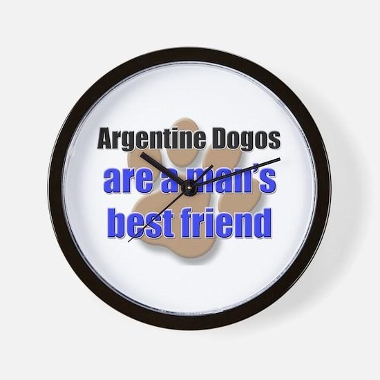 Argentine Dogos man's best friend Wall Clock