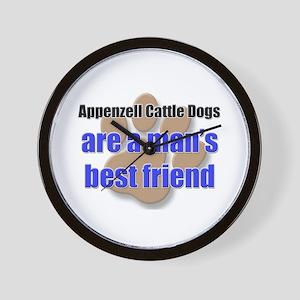Appenzell Cattle Dogs man's best friend Wall Clock