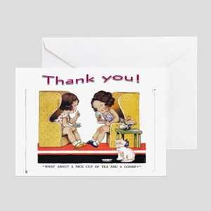 Tea Party Thank you Fold Over Cards Pk of 10