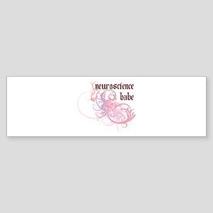 Neuroscience Babe Bumper Sticker