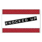 Knocked Up Rectangle Sticker 50 pk)